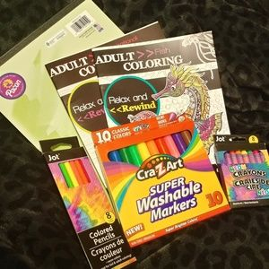 Accessories - NWT neon adult coloring bundle